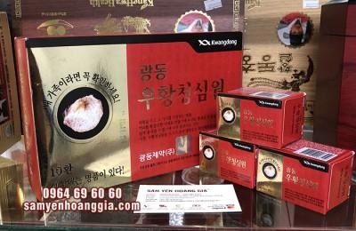 Thành phần và tác dụng của an cung ngưu hoàng hoàn tổ kén Kwangdong Hàn Quốc