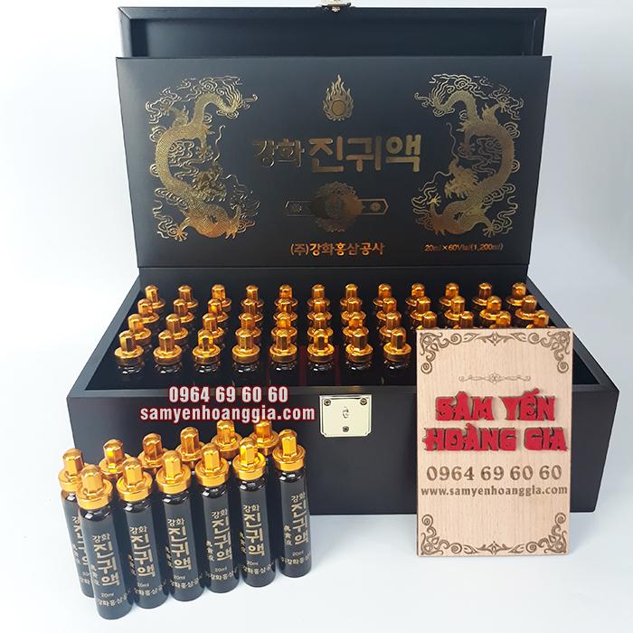 Tinh chất đông trùng hạ thảo Hàn Quốc hộp gỗ 60 ống