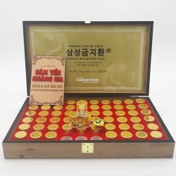 An cung ngưu hoàng hoàn Hàn Quốc hộp gỗ 60 viên