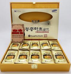 Nước đông trùng hạ thảo Hàn Quốc hộp gỗ rùa vàng 60 gói