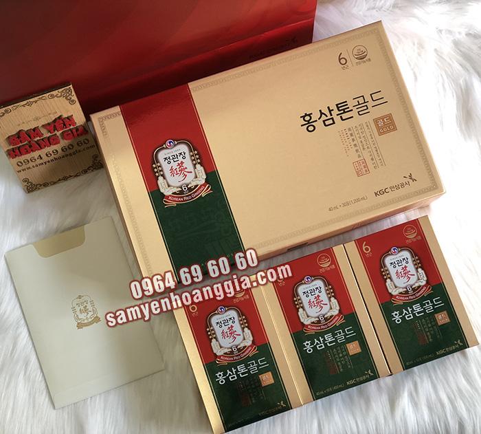 Nước hồng sâm chính phủ KGC TONIC GOLD nội địa Hàn