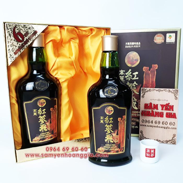 Nước Hồng Sâm nhung hươu linh chi KGS hộp 2 chai x 750ml