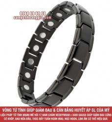 Vòng tay Titanium từ tính cân bằng huyết áp của Mỹ HG15D