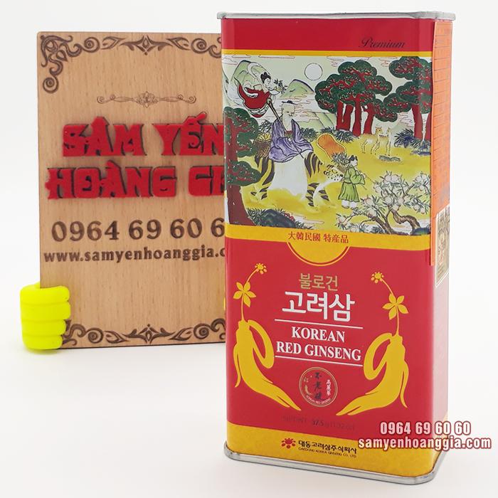 Hồng sâm củ khô Hàn Quốc hộp thiếc 37.5g