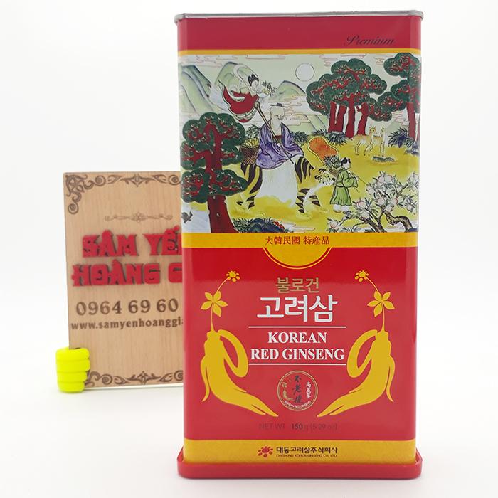 Hồng Sâm Hàn Quốc Củ Khô Hộp Thiếc 150g