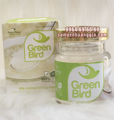 Nước Yến Sào Chưng Đường Phèn Green Bird của Nutri Nest lọ lẻ 75g