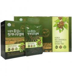 Giỏ Quà Tết Nước Hồng Sâm bổ gan Hàn Quốc DAEDONG hộp 30 gói x 50ml