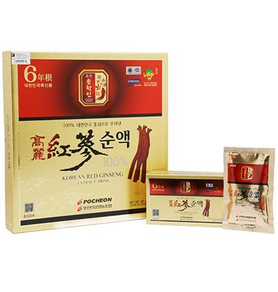 Hộp Quà Đẹp Nước hồng sâm Pocheon Hàn Quốc 100% hộp 30 gói