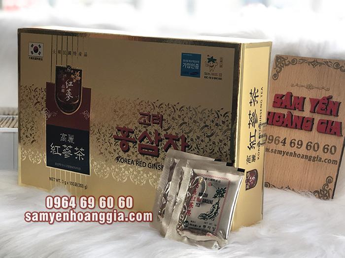 Trà hồng sâm Hàn Quốc 100 gói loại tốt