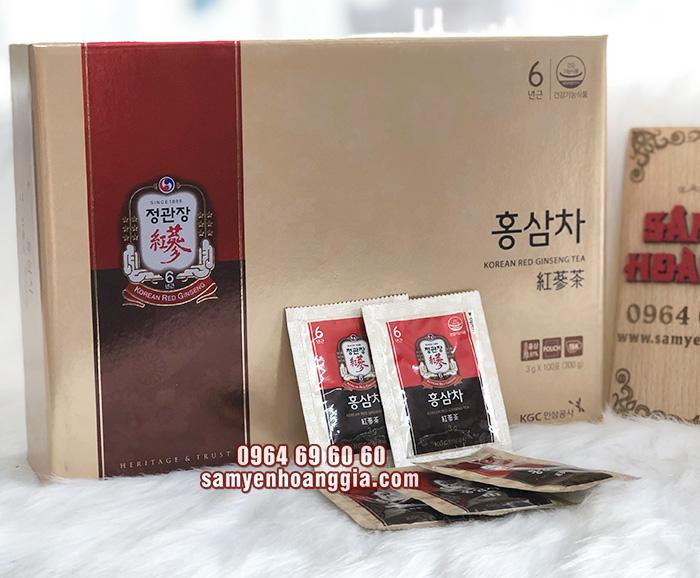 Trà hồng sâm KGC cao cấp hộp 100 gói
