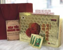 Trà Linh Chi Hàn Quốc KGS Gold hộp giấy 100 gói cao cấp