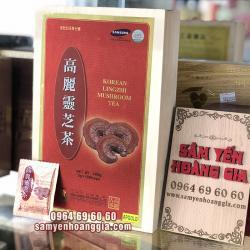 Trà Nấm linh chi Hàn Quốc hộp gỗ 100 gói