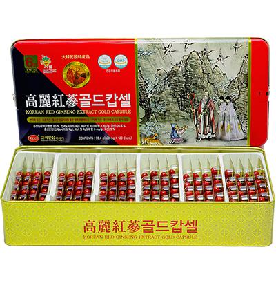 Viên Hồng Sâm Nhung Hươu Linh Chi KGS Premium hộp thiếc 120 viên