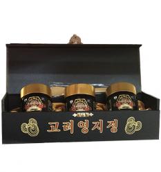 Cao linh chi đỏ Hàn quốc GOLD hộp gỗ đen 3 lọ x 120g
