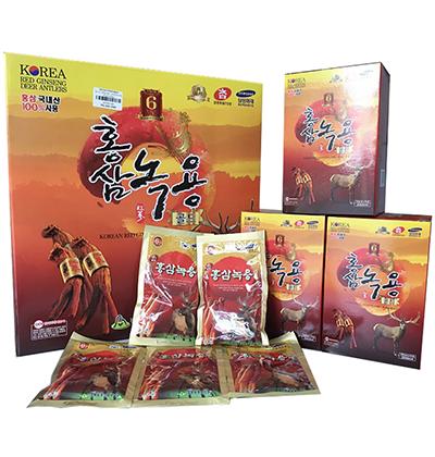 Quà Tết Nhân Viên Nước hồng sâm nhung hươu Hàn Quốc hộp 30 gói x 70ml
