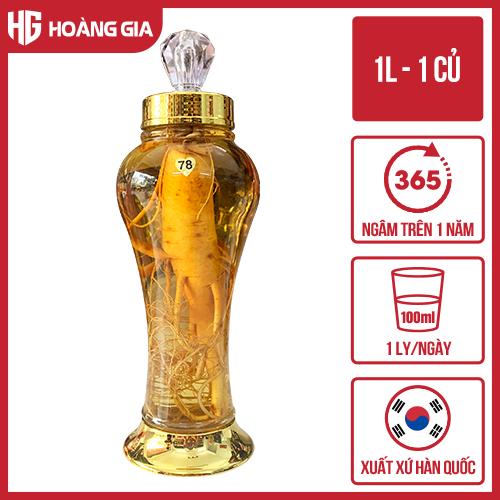 Bình Rượu Nhân Sâm Hàn Quốc 1 Lít + 1 Củ sâm tươi