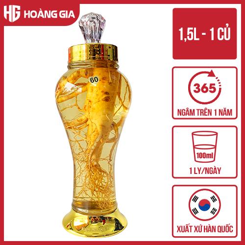 Bình Rượu Nhân Sâm Hàn Quốc 1,5 lít + 1 củ sâm tươi