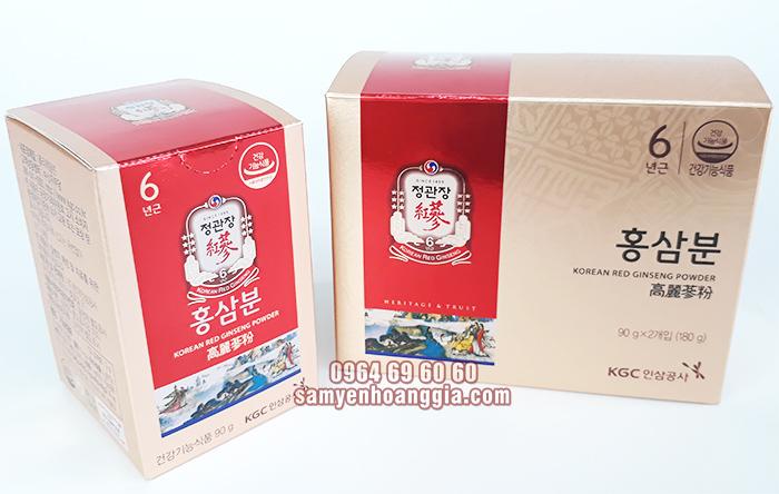 Bột hồng sâm Hàn Quốc KGC hộp 2 lọ x 90g