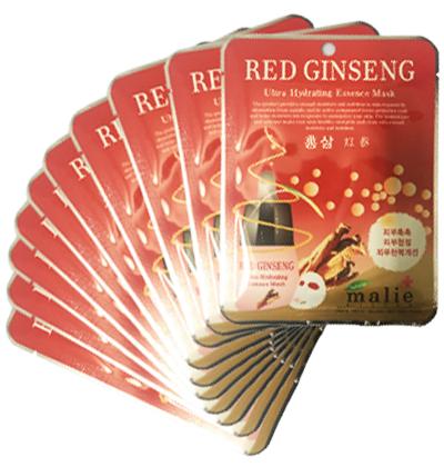 Set 10 Mặt nạ hồng sâm Hàn Quốc Malie